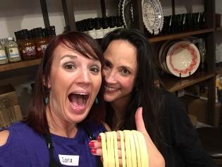 Mom and Bonus Mom make pasta